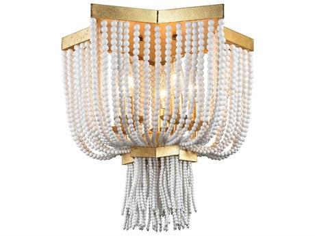 Elk Lighting Chaumont Antique Gold Leaf Five-Light 16'' Wide Flush Mount Ceiling Light