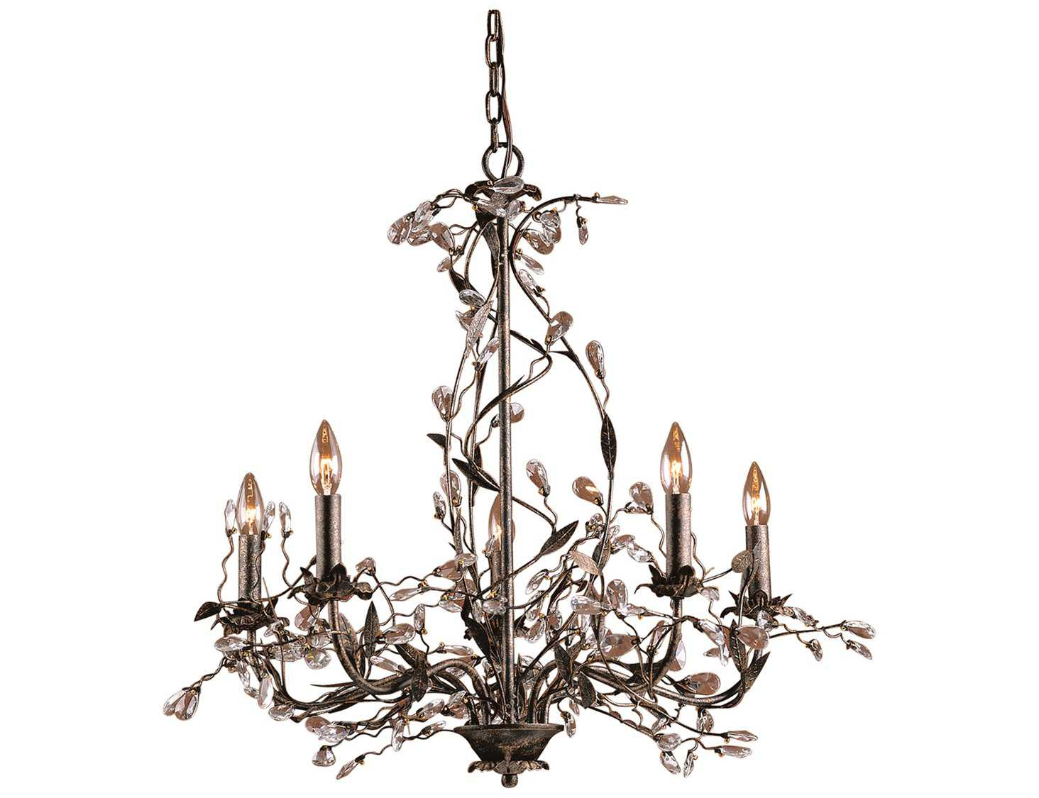 Elk Lighting Circeo Deep Rust Five Light 34 Wide Chandelier