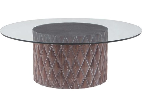 Elk Lighting Coco 48'' Round Restoration Grey Coffee Table