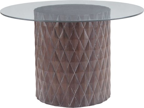 Elk Lighting Coco 60'' Round Restoration Grey Entry Table EK7011059