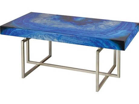 Elk Home Blue Agate / Silver 42'' Wide Rectangular Coffee Table EK1114368