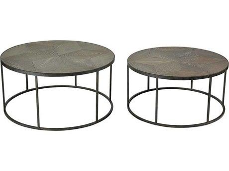 Elk Home Hazelnut / Grey Iron 36'' Wide Round Coffee Table (Set of 2)