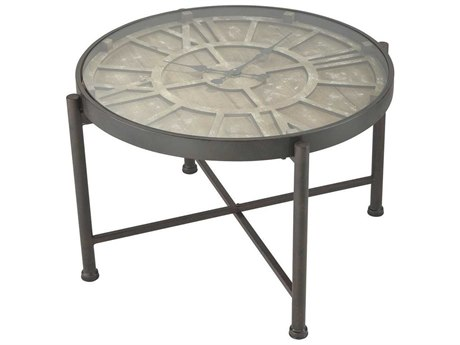 Elk Home Bronze / Burnt Oak 25'' Wide Round Coffee Table EK35110585