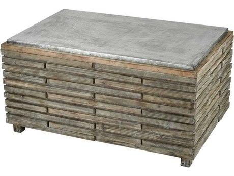 Elk Home Salvaged Grey Oak / Galvanized Steel 47'' Wide Rectangular Coffee Table