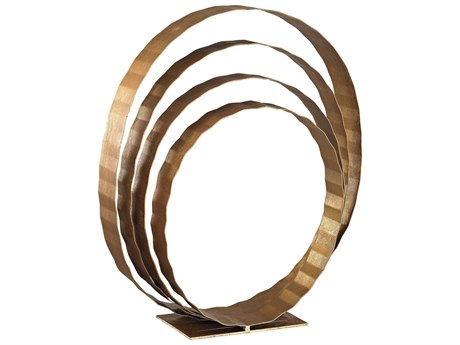 Elk Lighting Concentric Rings Gold Leaf Table Top Sculpture