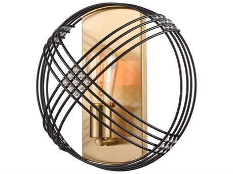 Elk Lighting Concentric Oil Rubbed Bronze / Satin Brass Glass Wall Sconce