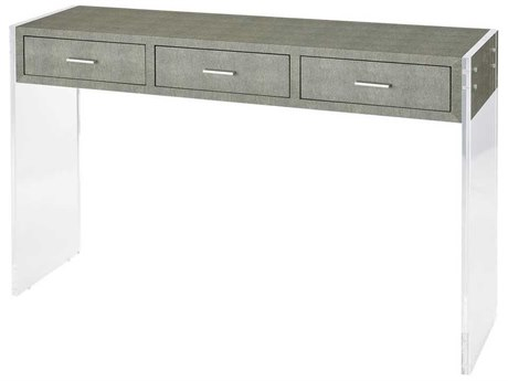 Elk Home Grey Faux Shagreen / Clear Acrylic 48'' Wide Rectangular Console Table EK3169066