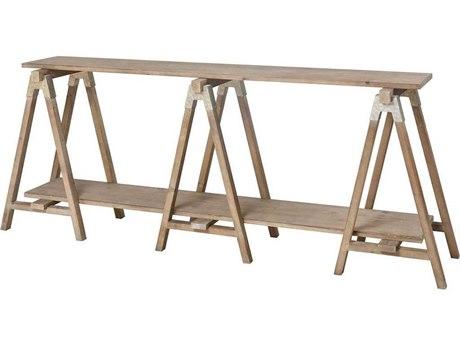 Elk Home Salvaged Light Oak / Galvanized Steel 80'' Wide Rectangular Console Table