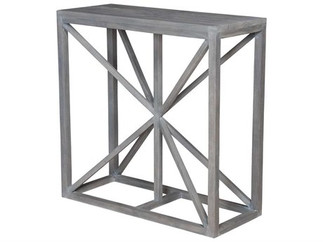 Elk Home Waxed Grey 36'' Wide Rectangular Console Table