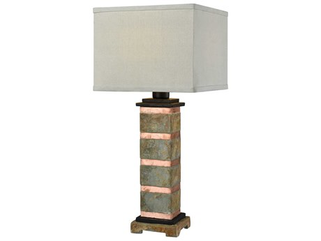 John Richard Drip Glaze Squattie Brass Table Lamp Jrjrl8457