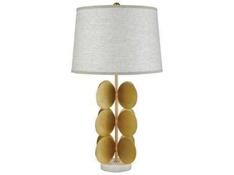 Elk Lighting Cotillion White Marble / Gold Metal Buffet Lamp