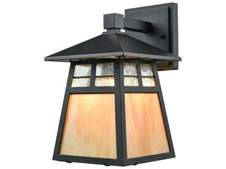 Elk Lighting Cottage Matte Black Outdoor Wall Light EK870501