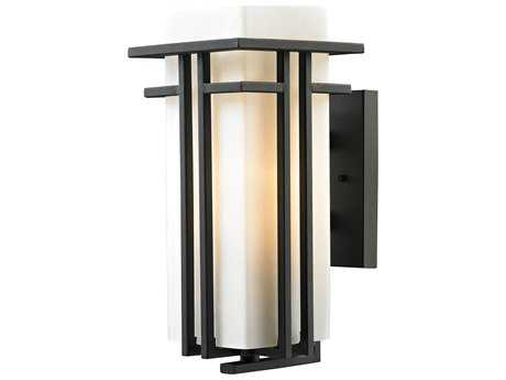 Elk Lighting Croftwell Textured Matte Black 7'' Wide Outdoor Wall Light