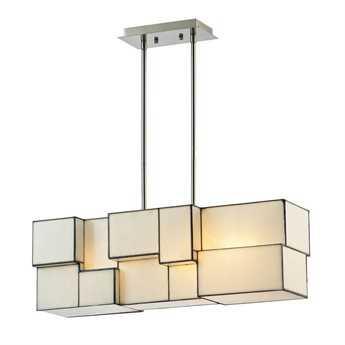 Elk Lighting Cubist Brushed Nickel Four-Light 8'' Wide Chandelier EK720634