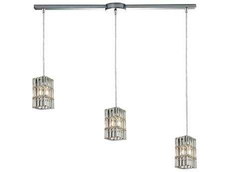 Elk Lighting Cynthia Polished Chrome Three-Light 36'' Wide Island Light