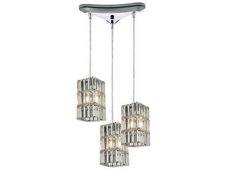 Elk Lighting Cynthia Polished Chrome Three-Light 10'' Wide Pendant