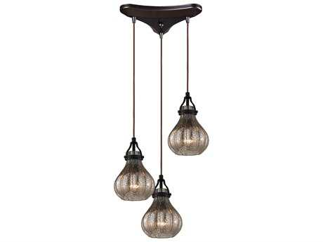 Elk Lighting Danica Oil Rubbed Bronze Three-Light 10'' Wide Pendant