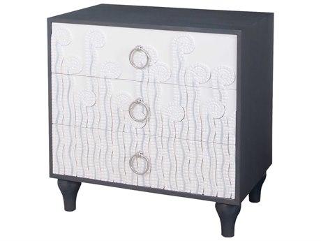 Elk Lighting Deco Cappuccino Foam & Antique Smoke 30''W x 20''D Fern Three-Drawer Chest Cabinet