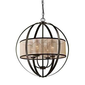 Elk Lighting Diffusion Oil Rubbed Bronze Four-Light 24'' Wide Chandelier EK570294