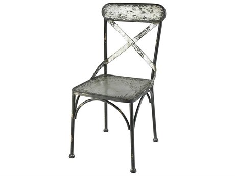 Elk Home Galvanized Steel / Black Antique Side Dining Chair
