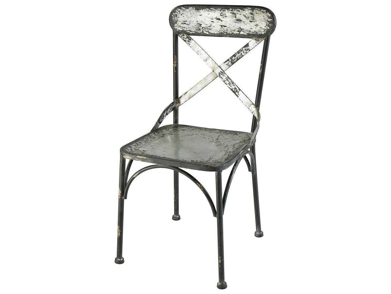 Prime Elk Home Galvanized Steel Black Antique Side Dining Chair Beatyapartments Chair Design Images Beatyapartmentscom