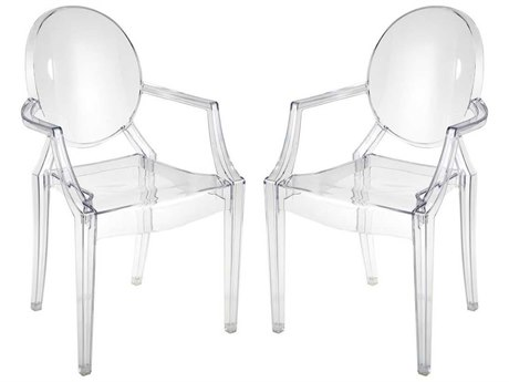 Elk Home Clear Arm Dining Chair (Set of 2)