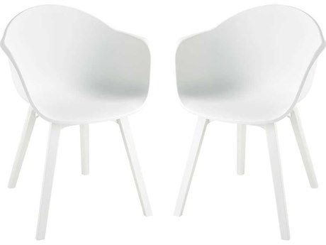 Elk Home White Arm Dining Chair (Set of 2)