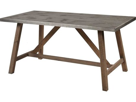 Elk Home Natural Wood / Concrete 62'' Wide Rectangular Dining Table