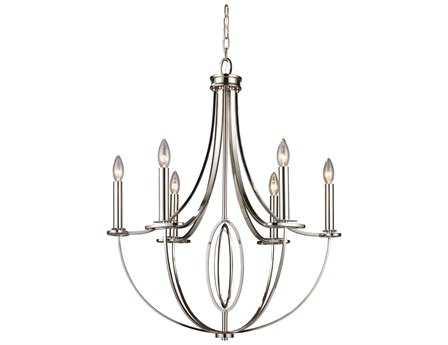 Elk Lighting Dione Polished Nickel Six-Light 25'' Wide Chandelier EK101216