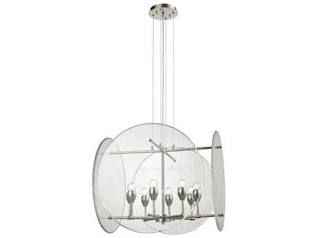Elk Lighting Disco Polished Nickel Eight-Light 25'' Wide Chandelier