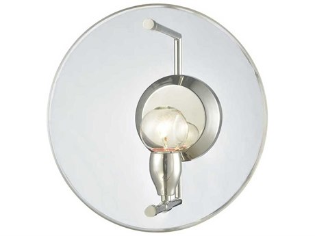 Elk Lighting Disco Polished Nickel 12'' Wide Wall Sconce