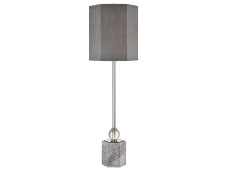 Elk Lighting Discretion Grey Marble / Polished Nickel Clear Crystal Buffet Lamp EKD4121