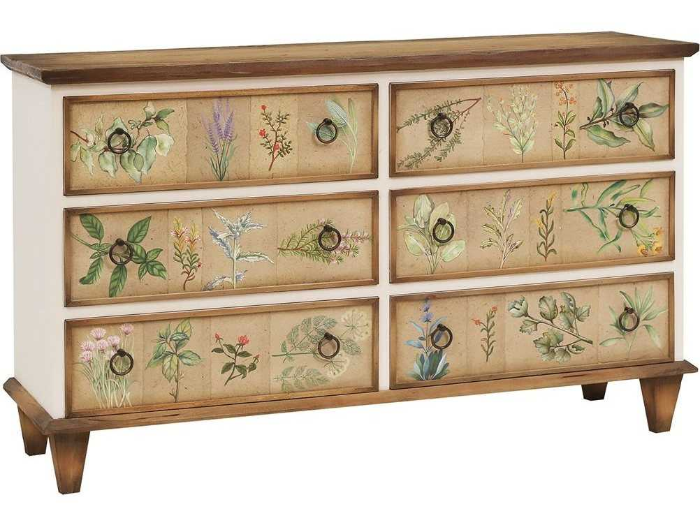 Hand Painted Art Six Drawer Double