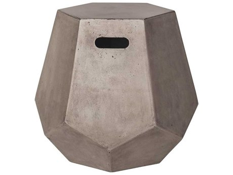 Elk Home Waxed Concrete 19'' Wide Hexagon Drum Table