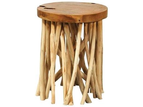 Elk Home Natural 14'' Wide Round Drum Table
