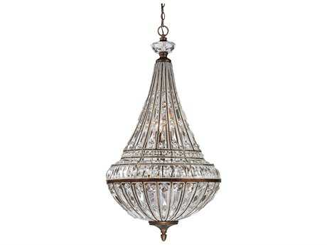 Elk Lighting Empire Mocha Nine-Light 23'' Wide Pendant