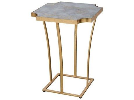 Elk Home Gold Leaf / Faux Grey Marble 18'' Wide Square End Table