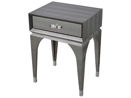 Elk Home Metallic Silver Faux Snake Skin / Chrome Acrylic Hardware 18'' Wide Rectangular End Table EK12181005