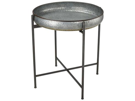 Elk Home Galvanized Steel 26'' Wide Round End Table