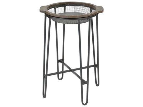 Elk Home Salvaged Grey Oak / Pewter 18'' Wide Round End Table EK3138431