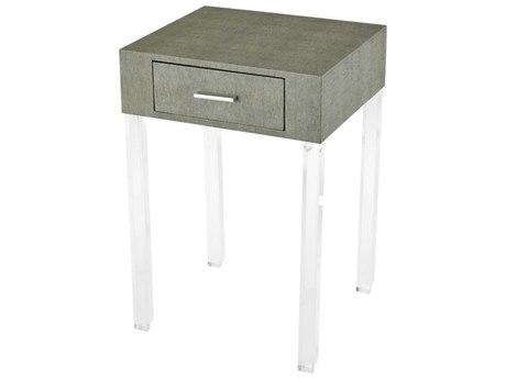 Elk Home Grey Faux Shagreen / Clear Acrylic 16'' Wide Rectangular End Table EK3169065