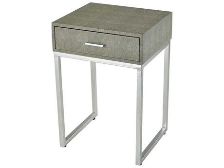 Elk Home Grey Faux Shagreen / Silver 16'' Wide Rectangular End Table EK3169068