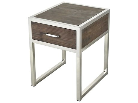 Elk Home Walnut / Stainless Steel 16'' Wide Rectangular End Table