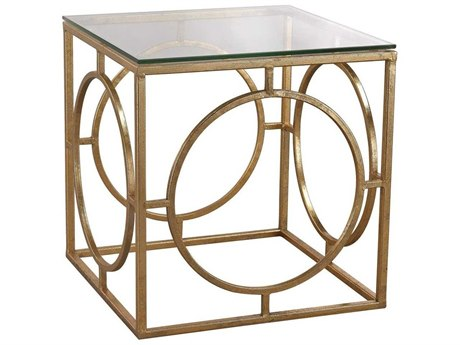 Elk Home Clear / Gold Leaf 16'' Wide Square End Table