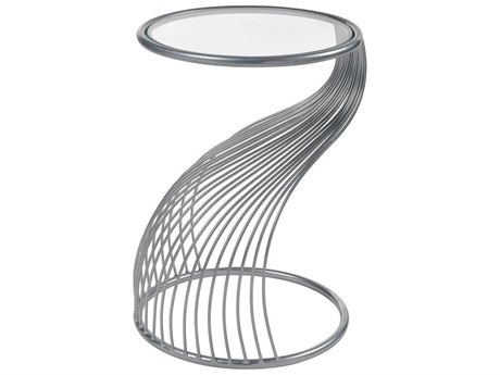Elk Home Silver / Clear Glass 15'' Wide Round End Table