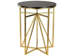 Dark Espresso / Gold 18'' Wide Round End Table