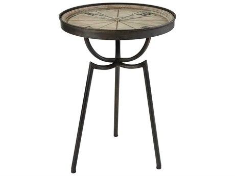 Elk Home Dark Bronze / Washed Wood 19'' Wide Round End Table