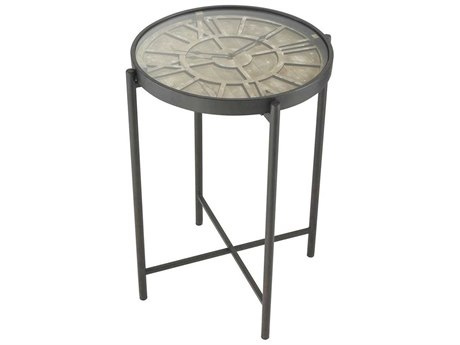 Elk Home Bronze / Burnt Oak 20'' Wide Round End Table EK35110586