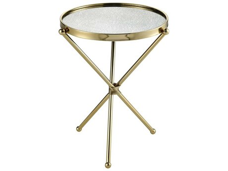 Elk Home Gold / Antique Mirror 17'' Wide Round End Table