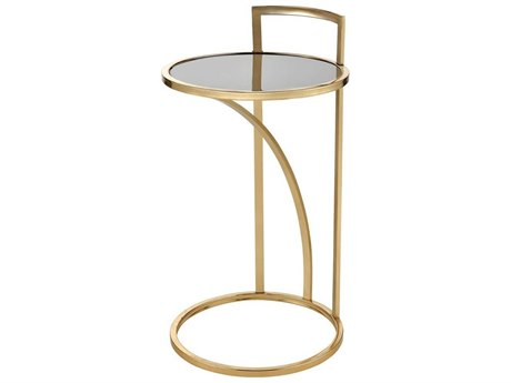 Elk Home Gold / Black 15'' Wide Round End Table